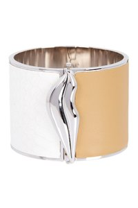 Diane von Furstenberg Frankie Wide Leather Hinge Bangle