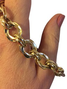 Ross & Simons New 14K Yellow Gold Free-Form Link Bracelet 7.5