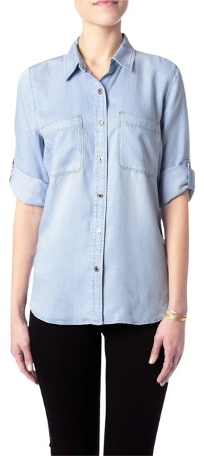 Preload https://img-static.tradesy.com/item/20377914/7-for-all-mankind-blue-7fam-xs-roll-sleeve-denim-shirt-snap-chambray-button-down-top-size-2-xs-0-1-650-650.jpg