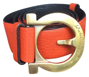 Salvatore Ferragamo belt color orange