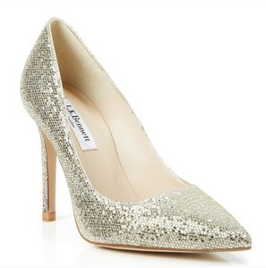 L.K. Bennett L.k.bennett Fern Pointed Toe Pump In Platinum Wedding Shoes