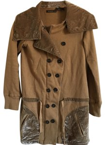 Nicholas K Military Velvet Fall Winter Comfortable Pea Coat