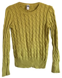 39181fc081aff Gap Chartreuse Cable Knit Green Sweater - Tradesy