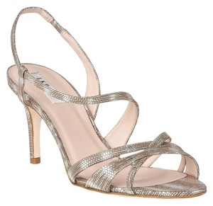 L.K. Bennett Strappy Party Metallic Silver - Tejus Sandals