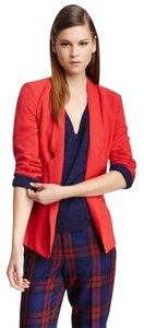 French Connection Red Jacket Lined Polyester Blazer