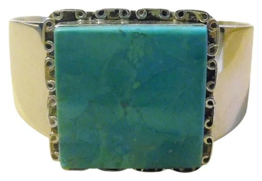 Mine Finds by Jay King Mine Finds By Jay King .925/Signed DTR Sterling Silver Turquoise Cuff Bracelet fits 6 3/4