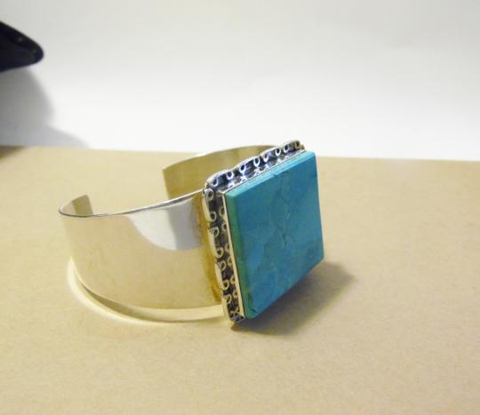 """Mine Finds by Jay King Mine Finds By Jay King .925/Signed DTR Sterling Silver Turquoise Cuff Bracelet fits 6 3/4"""" 7"""" wrist"""