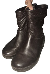 FitFlop Leather Wedge Brown Boots