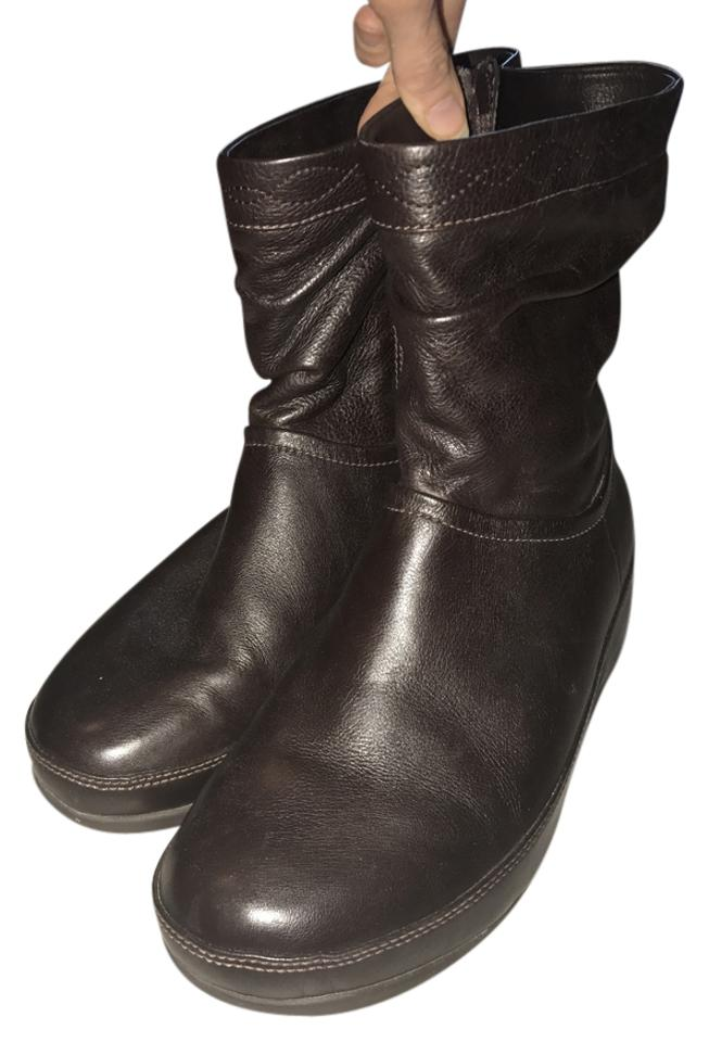 8bbdd0ee9 FitFlop Crush Leather Boots Booties. Size  US 8 Regular (M ...