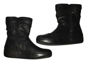 FitFlop Black Wedge Boots