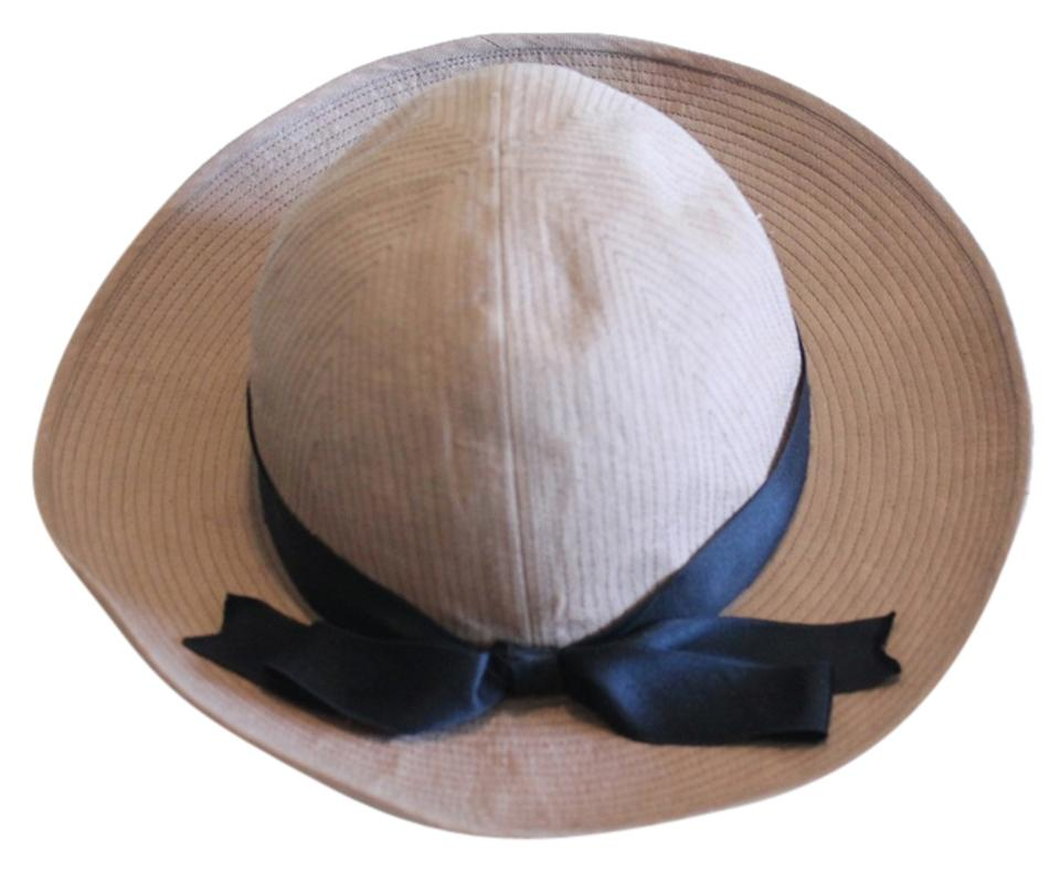 Chanel Brown Vintage Wide Brim Black Silk Ribbon Hat - Tradesy f2f6f749e55