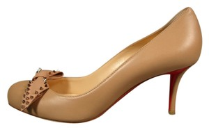 Christian Louboutin New Round Toe Beige/Nude Pumps