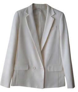 Express Express Winter White Tuxedo Jacket