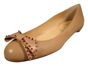 Christian Louboutin New Round Toe Beige/Nude Flats