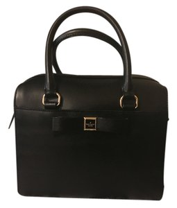 Kate Spade Leather Hobo Satchel in Black