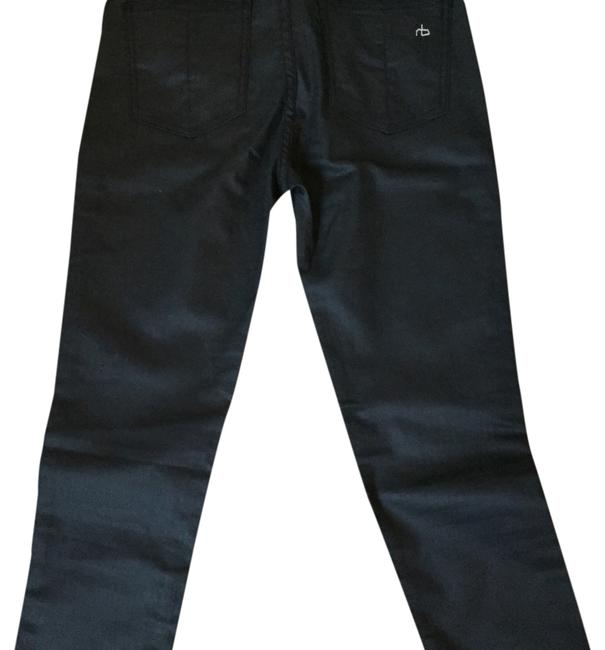 Item - Dark Gray/Navy Hues Coated And Denim Skinny Jeans Size 27 (4, S)