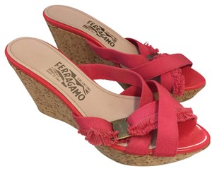 Salvatore Ferragamo Pink Wedges