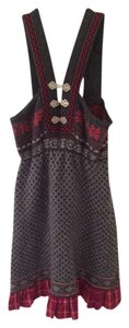 Free People short dress Gray and Red on Tradesy