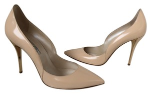Oscar de la Renta Leather Beige Pumps
