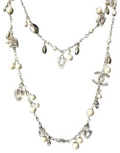 Chanel Chanel Gothic Pearl Crystals Charms Necklace Collection