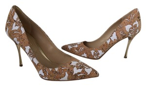 Nicholas Kirkwood Cork Beige and White Pumps