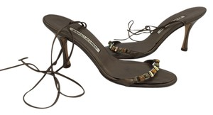 Manolo Blahnik Manolos Strappy Napa Cafe Sandals