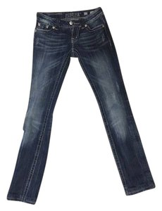 Miss Me Buckle Rhinestone Skinny Jeans-Light Wash