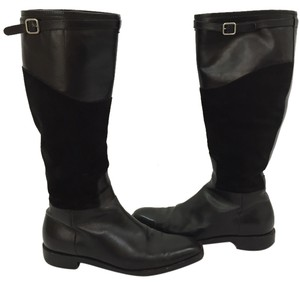 Ralph Lauren Leather Suede Riding Black Boots