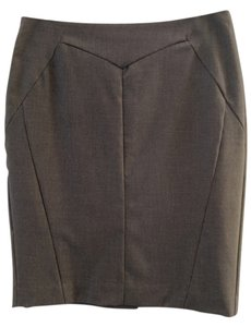 Worthington High Waisted Pencil Machine Washable Business Skirt Grey