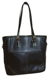 Coach Leather Office Document Laptop Tablet Tote in Black