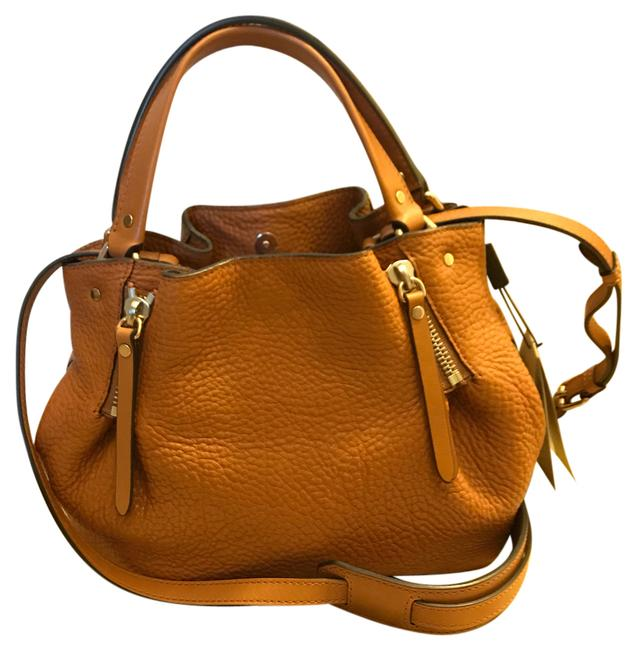Item - Small Maidstone Satchel/Brown Saddle Brown Leather/Fabric Satchel