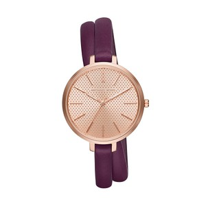 Michael Kors Jaryn Gold-Tone And Leather Wrap Watch