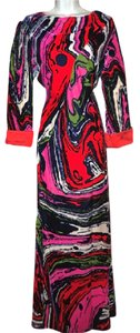 Christian Lacroix Silk Velvet Abstract Versace Pucci Dress