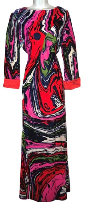 Preload https://img-static.tradesy.com/item/20379159/christian-lacroix-multicolor-vintage-couture-silk-velvet-long-cocktail-dress-size-10-m-0-2-650-650.jpg