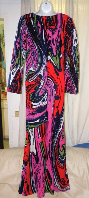 Christian Lacroix Silk Velvet Abstract Versace Pucci Dress Image 2