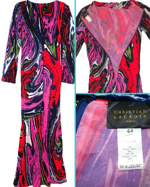 Christian Lacroix Silk Velvet Abstract Versace Pucci Dress Image 3