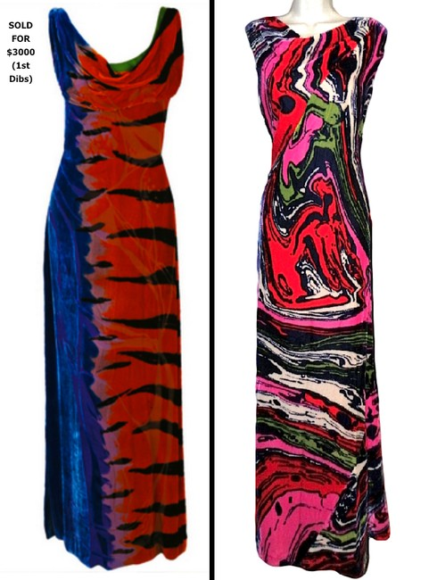 Christian Lacroix Silk Velvet Abstract Versace Pucci Dress Image 7