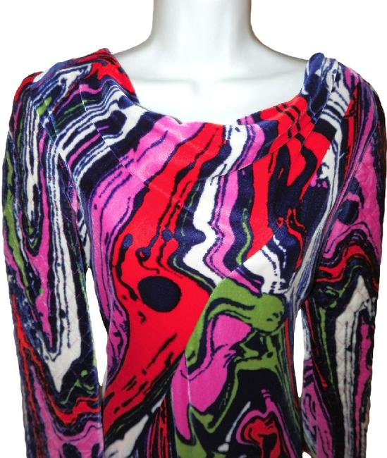 Christian Lacroix Silk Velvet Abstract Versace Pucci Dress Image 8
