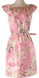 Eliza J short dress pink on Tradesy