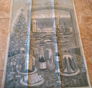 Greens Sur La Table Italian Buon Natale Kitchen Towel Other
