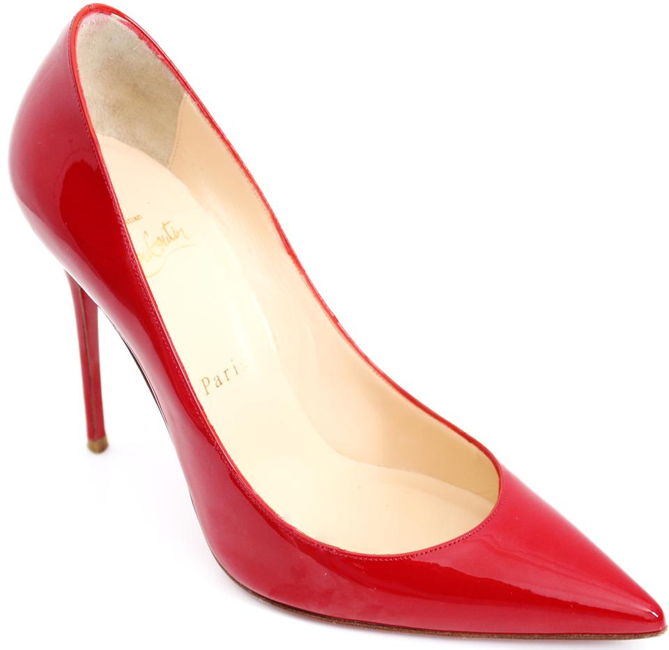 f0741b9d9ae Christian Louboutin Red Decollete 554 100 Mm Patent Leather 37 Pumps Size  US 7 11% off retail