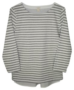 J.Crew Striped Knit Woven Top