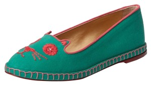 Charlotte Olympia green Flats