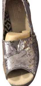 TOMS pewter/silver Wedges