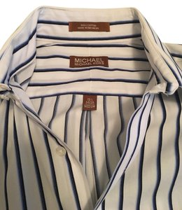 Michael Kors Men Groom Shirt Button Down Shirt Stripe