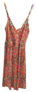 Nieves Lavi short dress Printed Spring V-neck Strappy Print Silk on Tradesy