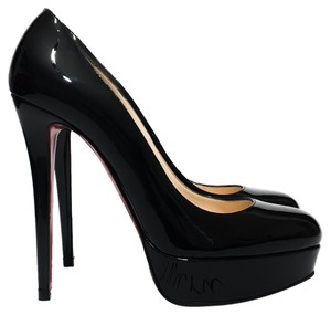 Christian Louboutin 140 Black Patent Leather Platforms