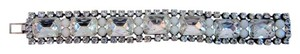 Paul Smith Crystal & Rhinestone Statement Bracelet White Antique Silver Tone