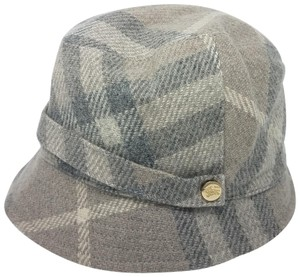 Burberry Grey, black Burberry House check wool bucket hat L