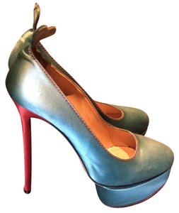 Charlotte Olympia Teal and red Platforms